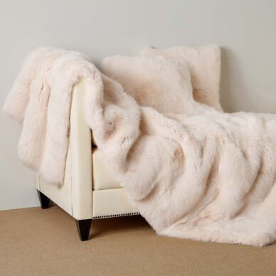 Luxury Fox Fur Throw