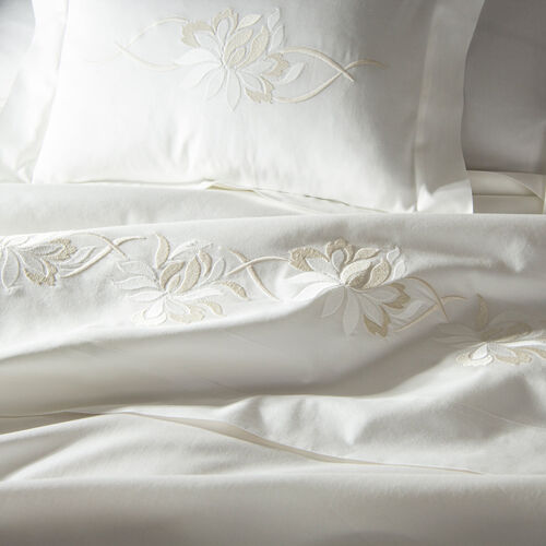 Lotus Flower Embroidered Boudoir Sham