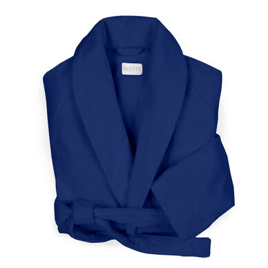 Velour Shawl Collar Robe Navy image