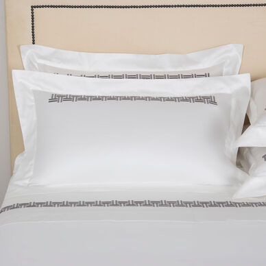 Basket Weave Embroidered Sham image