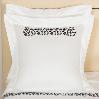 Ornate Medallion Embroidered Euro Sham image