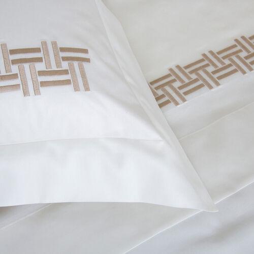 Basket Weave Embroidered Sheet Set