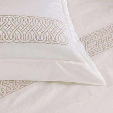 Auspicious Embroidered Sheet Set hover image
