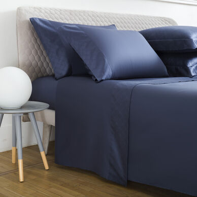 Terragona Border Sheet Set Cobalt