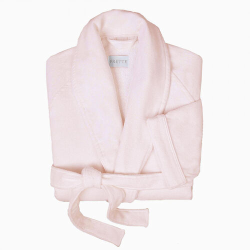 Velour Shawl Collar Robe Rose