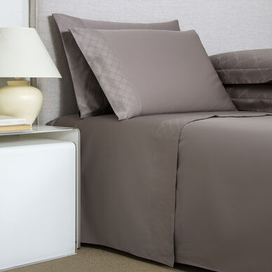 Terragona Border Sheet Set Taupe