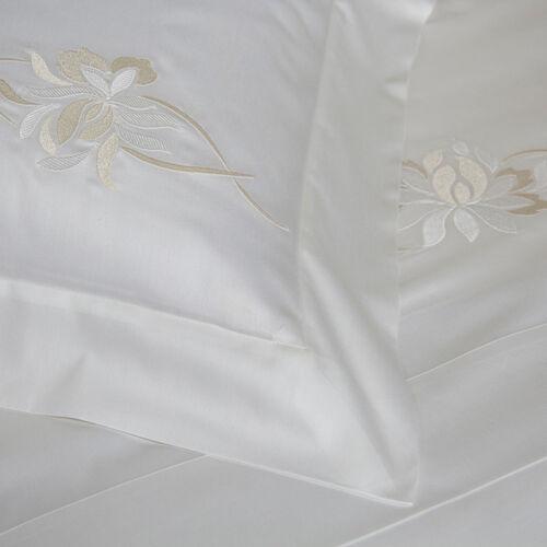 Lotus Flower Embroidered Sham