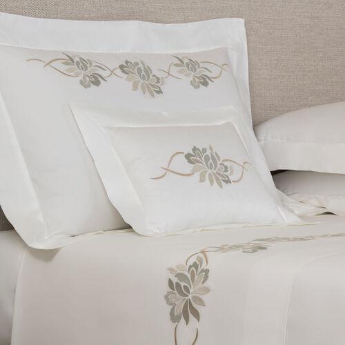 Lotus Flower Embroidered Boudoir Sham