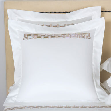 Basket Weave Embroidered Euro Sham