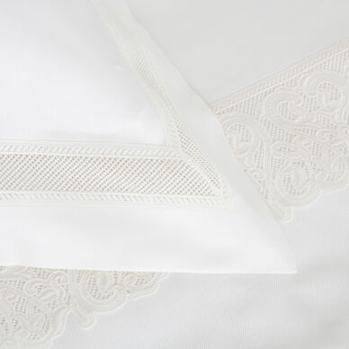 Ornate Medallion Lace Euro Sham