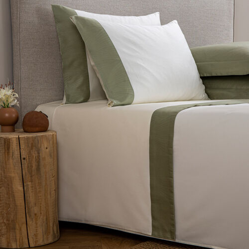 Imperial Border Sheet Set Ivory Sage