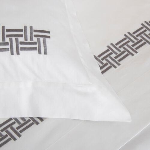 Basket Weave Embroidered Sham