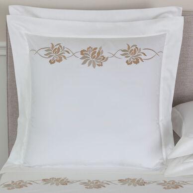 Lotus Flower Embroidered Euro Sham image