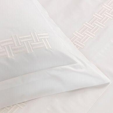 Basket Weave Embroidered Euro Sham hover image