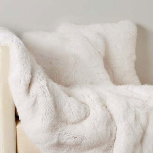 Shadow Fox Fur Decorative Pillow