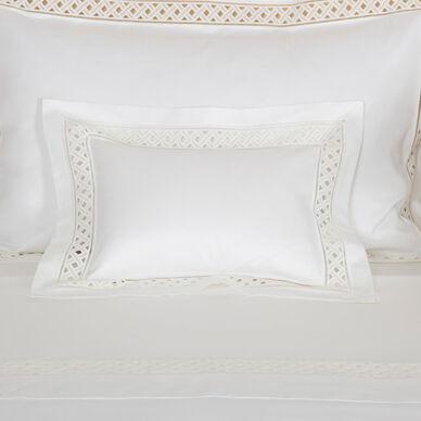 Lozenge Lace Boudoir Sham image