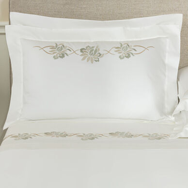 Lotus Flower Embroidered Sham image