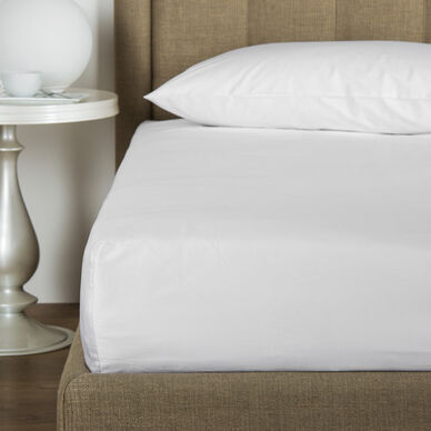 Cotton Poplin Fitted Bottom Sheet