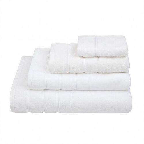 Lanes Border Bath Towel White