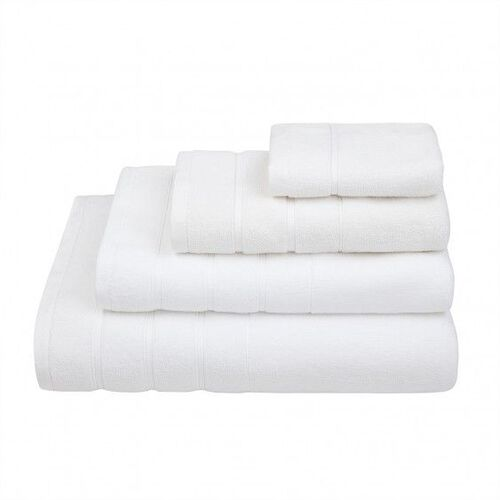 Lanes Border Hand Towel White