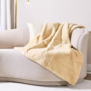Mink Fur Throw Caffe Latte image