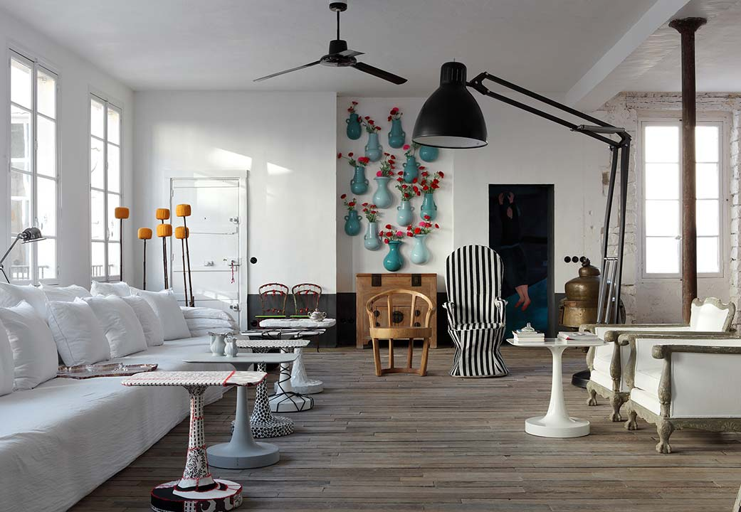 Extra living space designed by Paola Navone