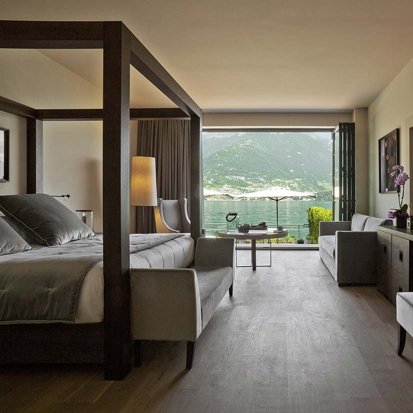 A guest suite at Filario Hotel and Residences