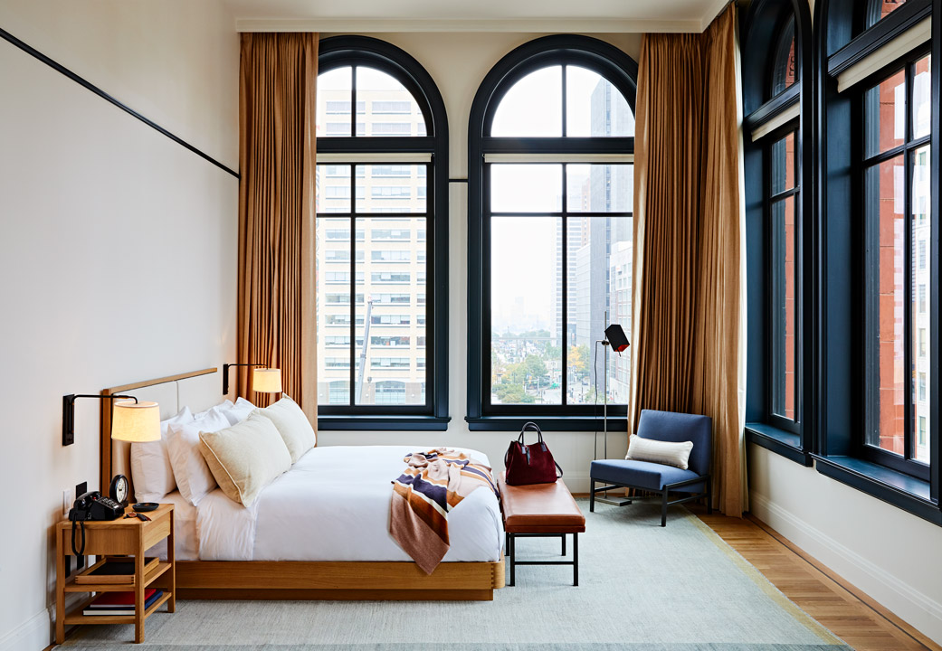 Guest suite at the Shinola Hotel