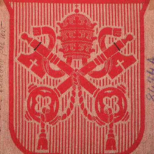 The Vatican emblem proof of weave 1931
