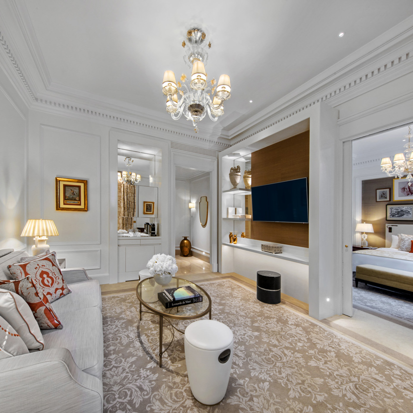 The St. Regis Rome King Suite Living Space