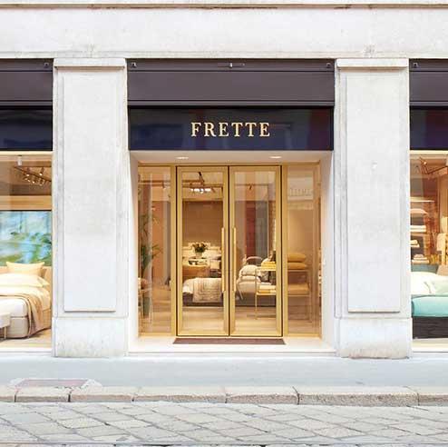Frette Via Manzoni Milano store 2018