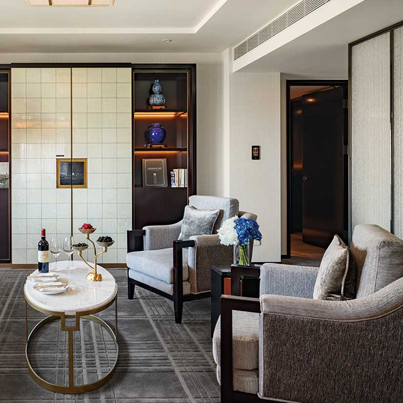 Guest suites at the Peninsula