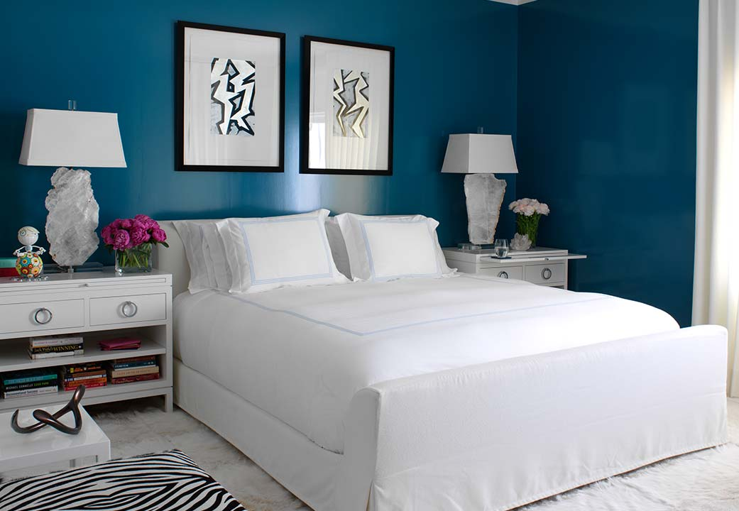 A bedroom designed by Richard Mishaan